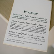 Letterpress Wedding Itinerary Stationery
