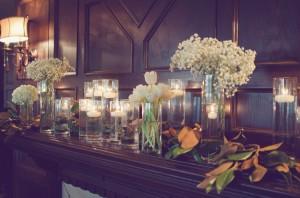 White Floral Wedding Centerpieces