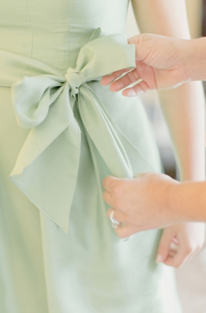 Mint Green Bridesmaids Dress Detail