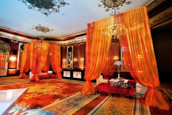 Orange Wedding Lounge Area