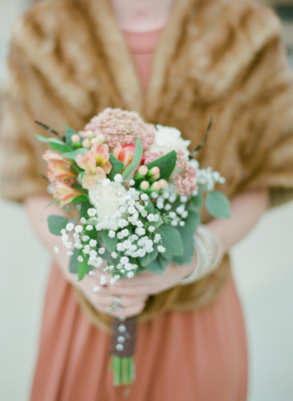Elegant Winter Bridesmaids