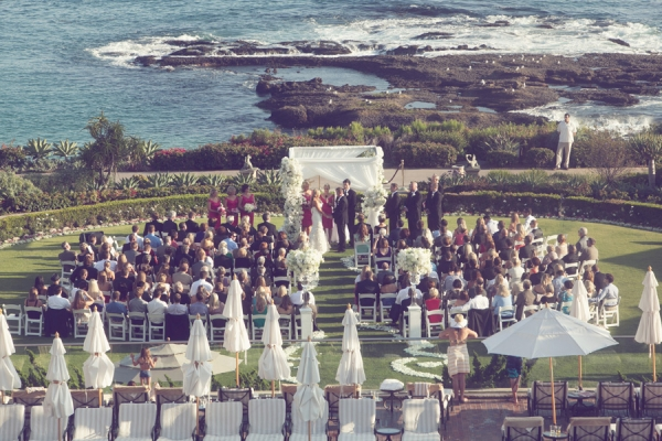 Dramatic Beach Wedding Ceremony