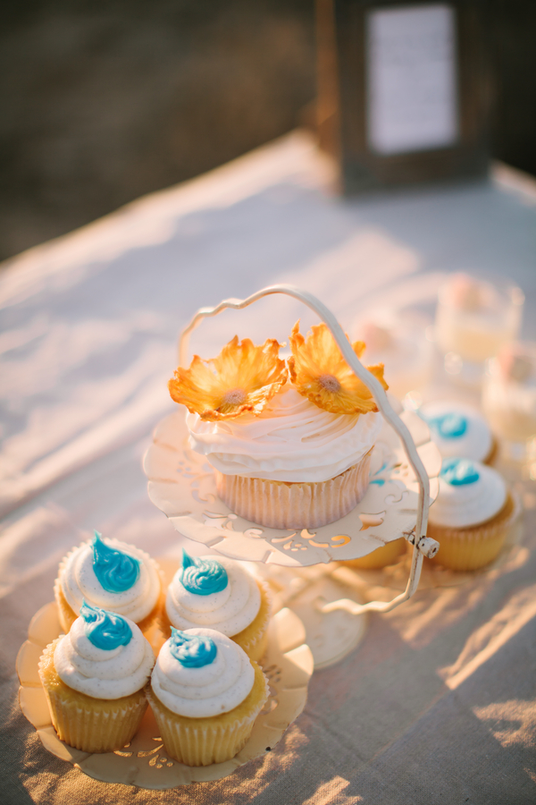 Oversize Cupcake With Yellow Flowers