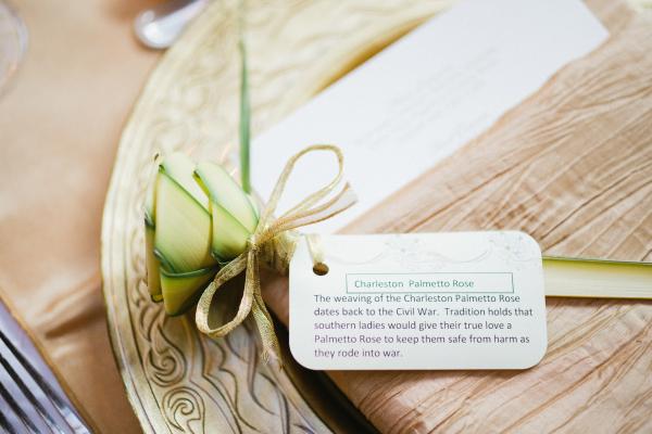 Palmetto Rose Wedding Favors