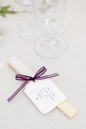Paper Fan Reception Table Marker