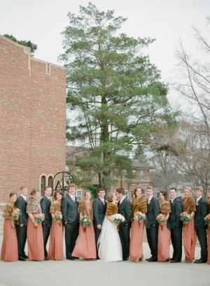 Peach Bridal Party Attire
