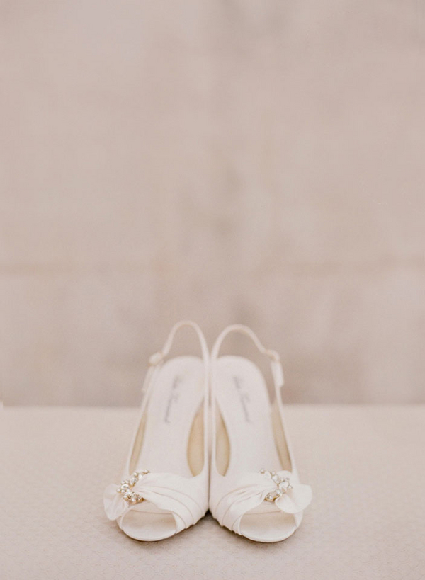 Ivory P Toe Bridal Shoes