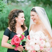 Pink Gerbera Daisy Bridesmaids Bouquet