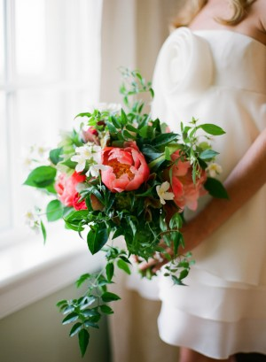 Pink Peony and Greenery Bouquet