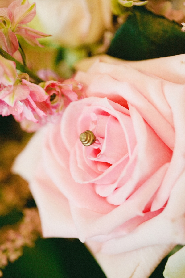 Pink Rose With Gold Embellishment
