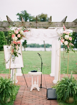 Pink and White Ceremony Arch