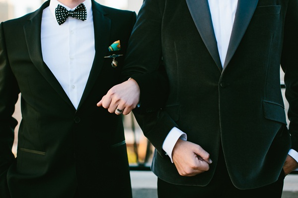 Grooms in Classic Tuxedos