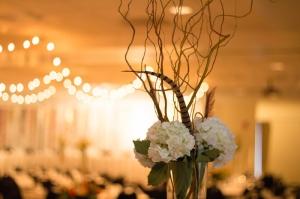 Tall Hydrangea Wedding Centerpiece
