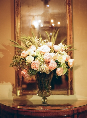 Rose and Hydrangea Reception Centerpiece