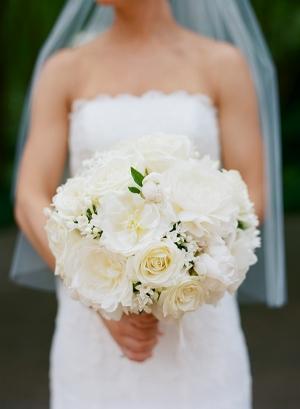 Round White Bridal Bouquet