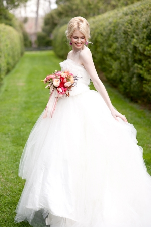 Ruffled Ballgown Wedding Dress