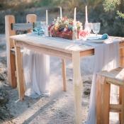 Rustic Desert Table Setting Brushfire Photography