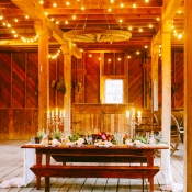 Rustic Elegant Barn Reception Decor