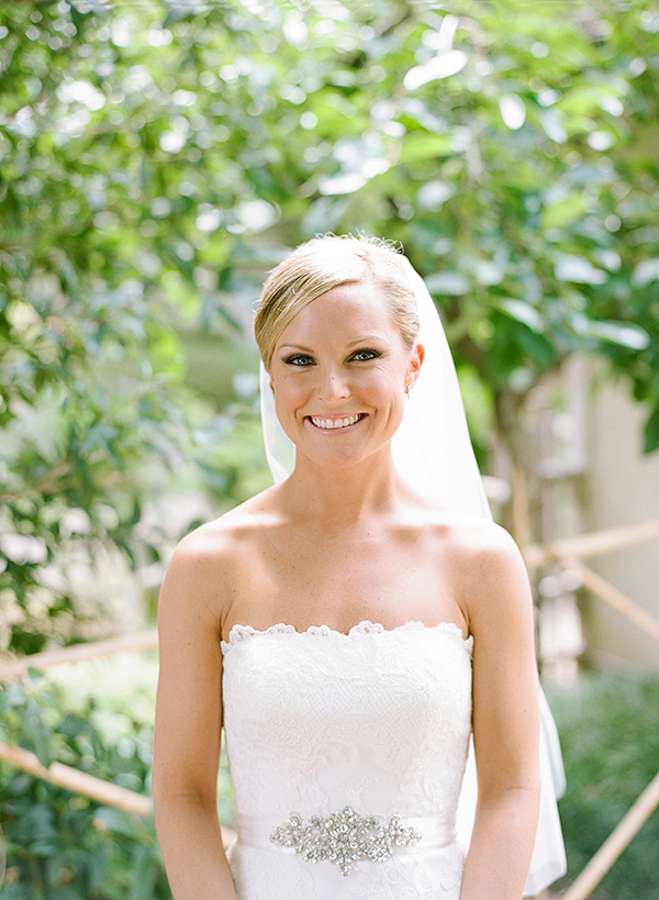 Scalloped Edge Wedding Gown With Rhinestone Waist