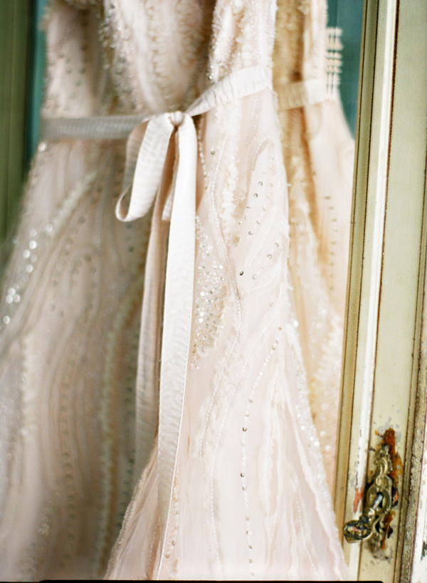 Sequin and Tulle Wedding Gown