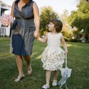Short Blue Silk Bridesmaid Dress