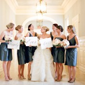 Short Dark Teal Gray Bridesmaids Dresses