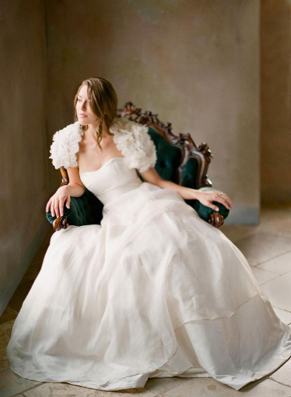 Short Ruffled Bridal Shrug