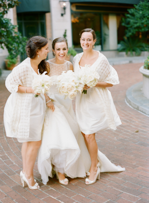 Short White Bridesmaids Dresses
