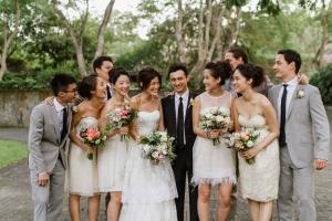Short White Bridesmaids Dresses1