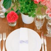 Simple Garden Decor on Reception Table