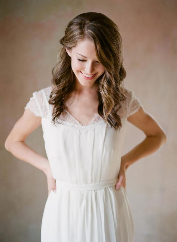 Cap Sleeve Bridal Gown - Elizabeth Anne Designs: The Wedding Blog