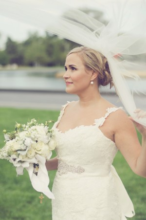 Spaghetti Strap Bridal Gown With Sweetheart Neckline