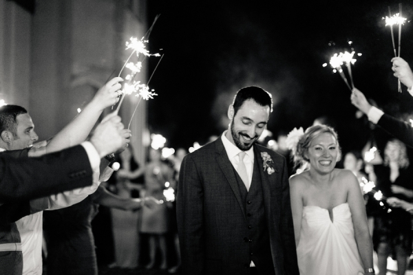 Sparkler Bride and Groom Send Off