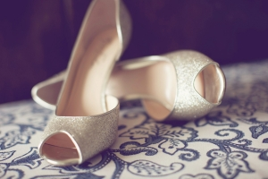 Sparkly Open Toe Wedding Shoes