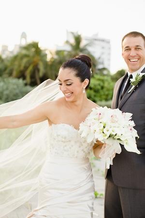 Strapless Column Style Wedding Gown