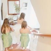 Strapless Mint Green Bridesmaids Dresses