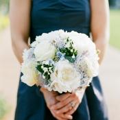 Strapless Navy Bridesmaids Dress