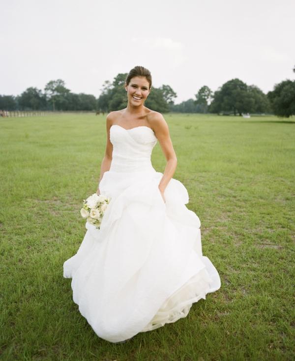 Strapless Sweetheart Neckline Gown