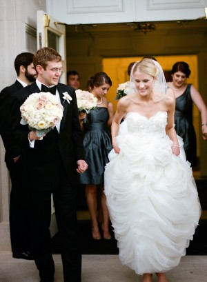 Strapless Wedding Gown With Full Ruffled Skirt 1