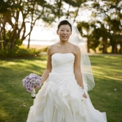 Strapless Wedding Gown With Full Ruffled Skirt 11