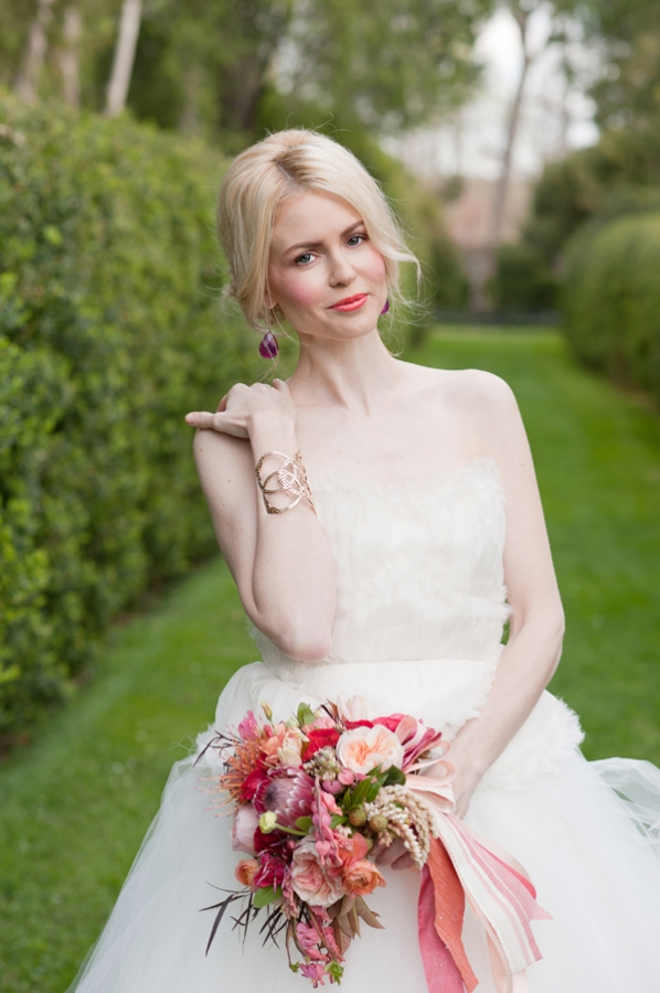 Strapless Wedding Gown With Full Ruffled Skirt2