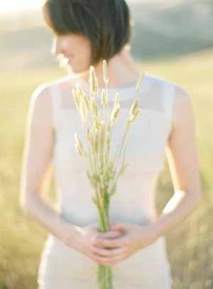 Sunny Meadow Engagement Photo