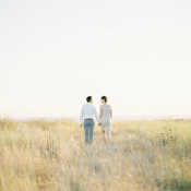 Sunset Meadow Engagement Shoot