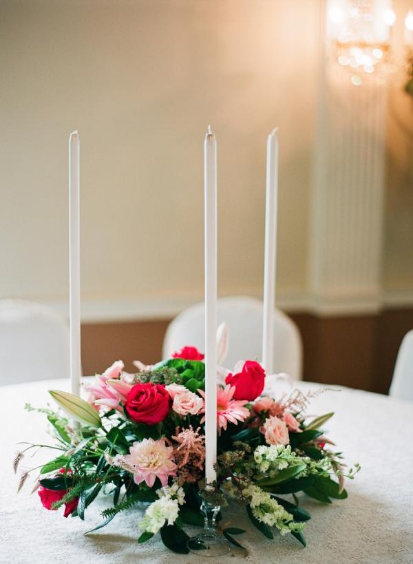 Taper Candle Wedding Decor