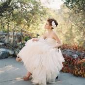 Taupe Platform Bridal Heels