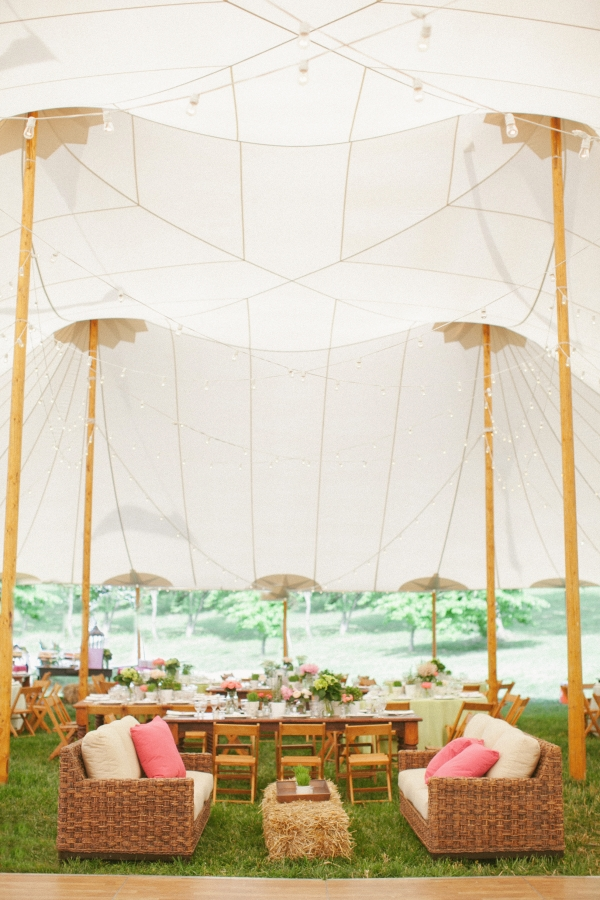 Tent Reception With Lounge Seating