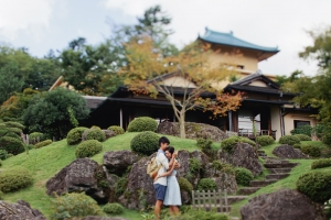 Tokyo Japanese Garden Engagement Portrait Ivan Tan