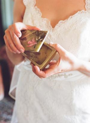 V Neck Sleeveless Lace Wedding Gown