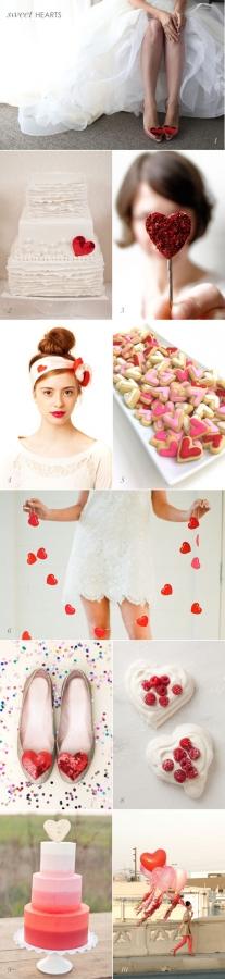 Valentines Day Wedding Heart Inspiration