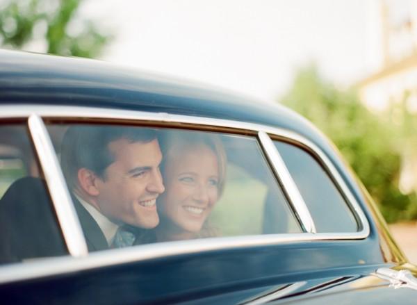 Vintage Car Wedding Getaway